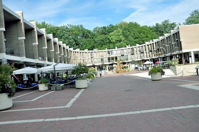 The Lake Anne Plaza was designed to balance design and art that the community could interact with. 