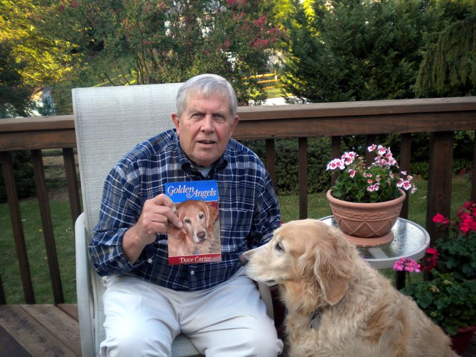Author Dave Carter with his rescue golden retriever, Boston.