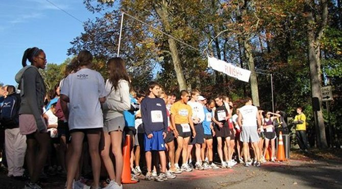 Runners participate in last year's 5K Run/Walk in memory of Ellen Vala Schneider.