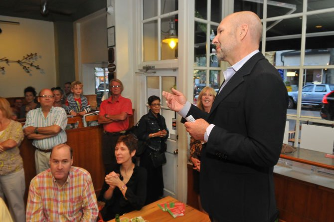 Bittersweet owner Jody Manor thanks all the friends, neighbors and café regulars for joining in the celebration on Saturday evening. Manor also announced plans to operate Bittersweet as a Mexican restaurant in the evenings with table service.