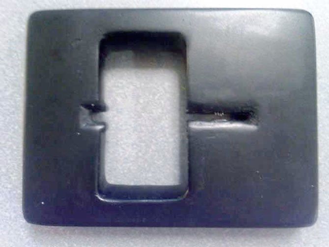 A skimmer removed from the ATM machine located in the lobby of the Inova Fairfax Hospital Cardiac Care Center. 