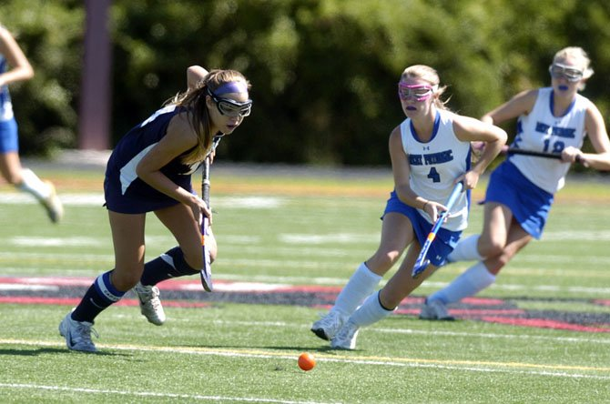 Senior midfielder Katrina Cook, seen earlier this season, and the Washington-Lee field hockey team defeated Yorktown, 1-0, on Sept. 20 at Washington-Lee High School.
