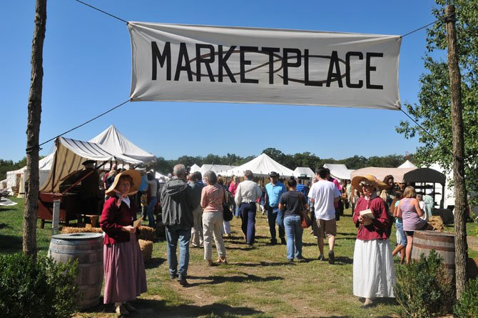 The Colonial Marketplace was bustling with activity on Sunday afternoon, Sept. 23.