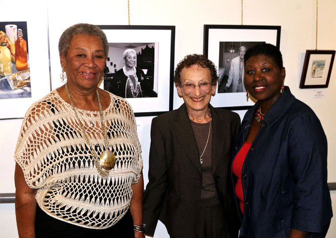 From left: 2012 Living Legend of Alexandria Lillian Patterson; Nina Tisara, director, Living Legends of Alexandria, and Marilyn Patterson.