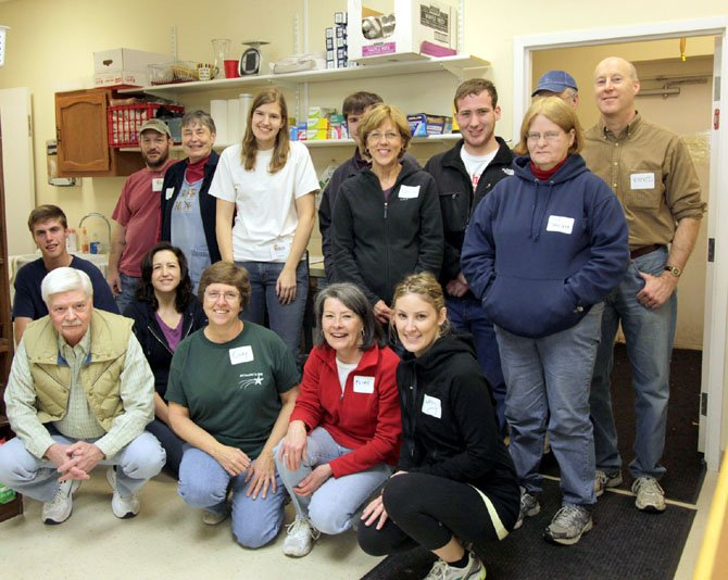 Last years WFCM volunteers for the Boy Scout Food Drive are (back row, from left) Gene Luark, Mary Feeney, Laura Gaul, Laura Schutz, William McGuire, Sue Egloff and Fred Schutz and (front row, from left) Brian Furr, Dean Fellinger, Mary Patch-Johnson, Cindy Nichols, Karen Ammons and Catherine Feeney.
