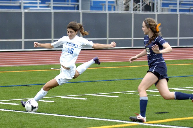 Senior striker Morgan Reuther scored a team-high 17 goals in the Bishop O'Connell girls' soccer team's first nine games.