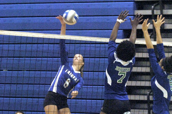 Senior outside hitter Megan McKenzie leads the Fairfax volleyball team in kills.