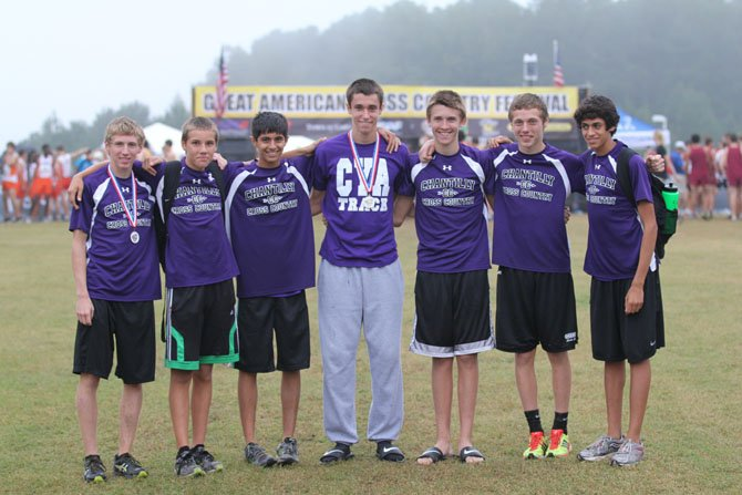 The Chantilly boys' cross country team finished fourth at the Great American Cross Country Festival during the weekend in Cary, N.C.