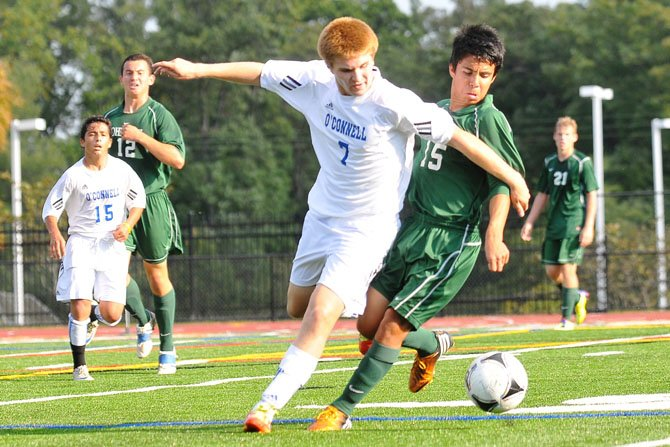 Bishop O'Connell senior Brad Zemke scored two goals during a 6-0 win against Pope John Paul the Great on Oct. 4.