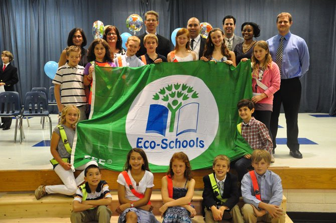 Churchill Road Elementary School is named the eighth Green Flag school in the country Friday, Oct. 5, by the National Wildlife Federations Eco-Schools program.