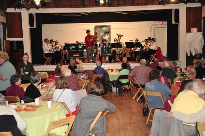 The Kings Park German Band performs at the Great Falls Historical Society's Oktoberfest Wednesday, Oct. 10.