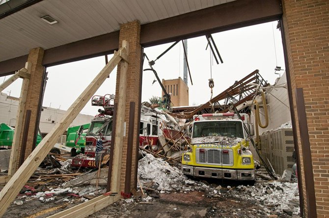 The 2010 blizzard destroyed the Baileys Crossroads fire station.