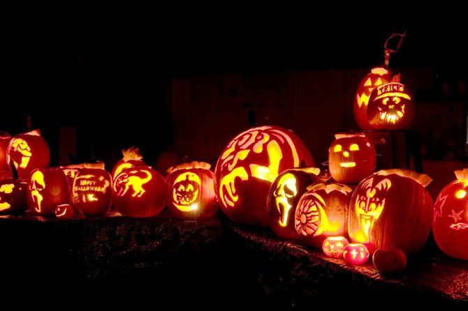 Children carved spooktacular Jack-O-Lanterns during Wildfire's pumpkin carving class last year.