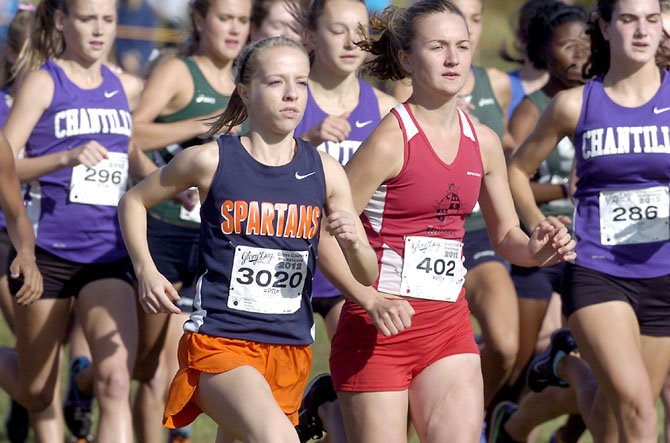 West Springfield's Caroline Alcorta (3020) won the 20th Annual Glory Days Invitational with a course-record time of 17:42 on Oct. 13.