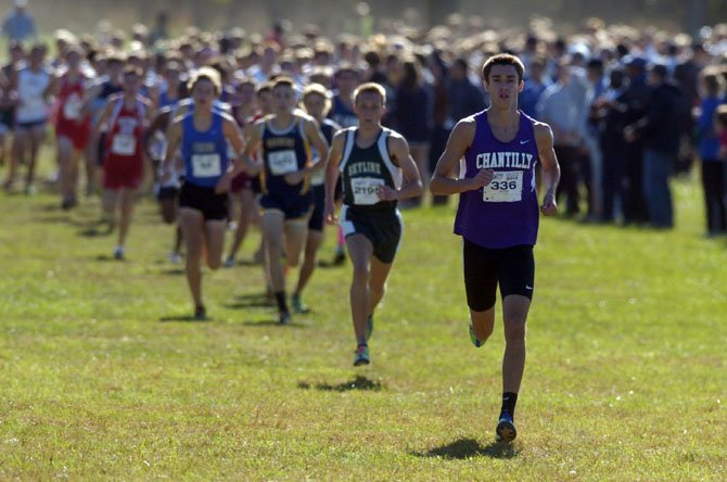 Chantilly's Sean McGorty won the 20th Annual Glory Days Invitational with a time of 14:45 on Oct. 13 at Bull Run Regional Park.