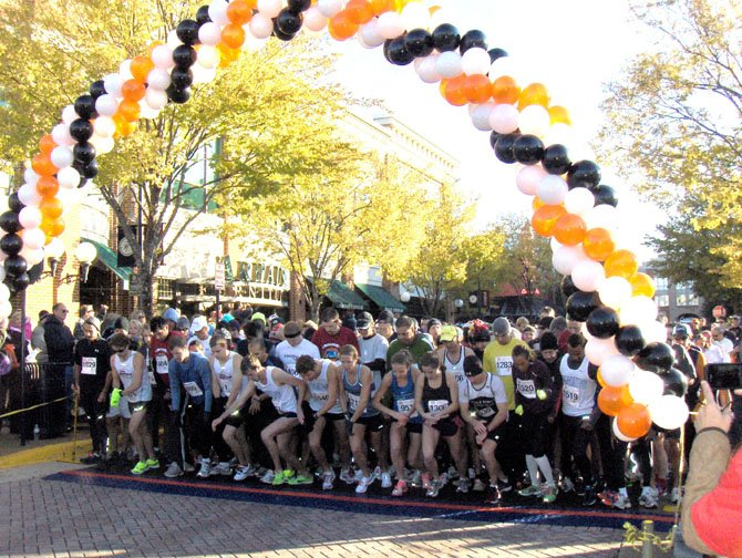 The starting line at last year's Goblin Gallop 5K in Fairfax Corner.