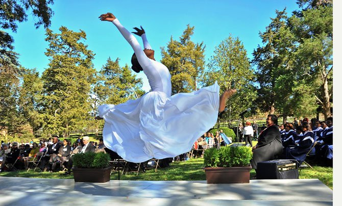 Dancers from Dance Dimensions perform at the annual memorial service.
