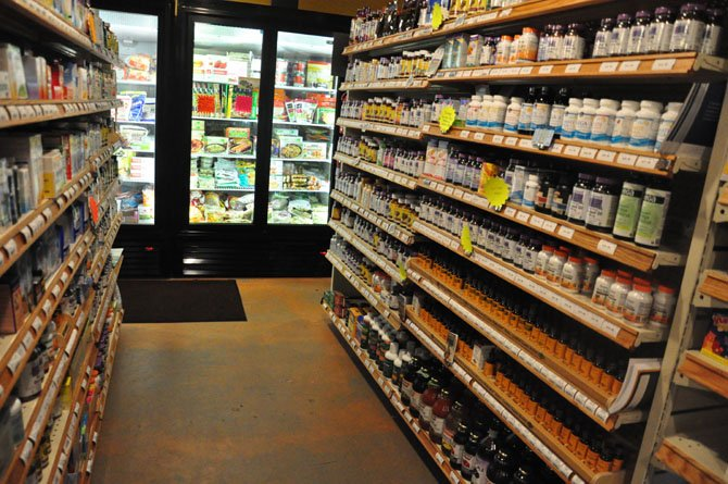 The vitamin and supplement at Salud Healthy Pantry, a health food grocery store that recently opened in Great Falls.