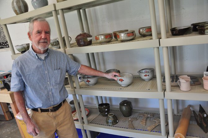 David Cowdrill, a potter, at his studio, part of the Great Falls Studios Tour last weekend.