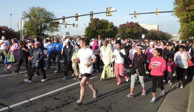 More than 900 people line up on Eisenhower Avenue Oct. 20 to begin the 2012 Walk to Fight Breast Cancer.