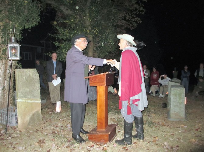 "The ""spirit"" of Col. John S. Mosby thanks Civil War historian Jim Lewis for the opportunity to say ""goodbye"" to his men."
