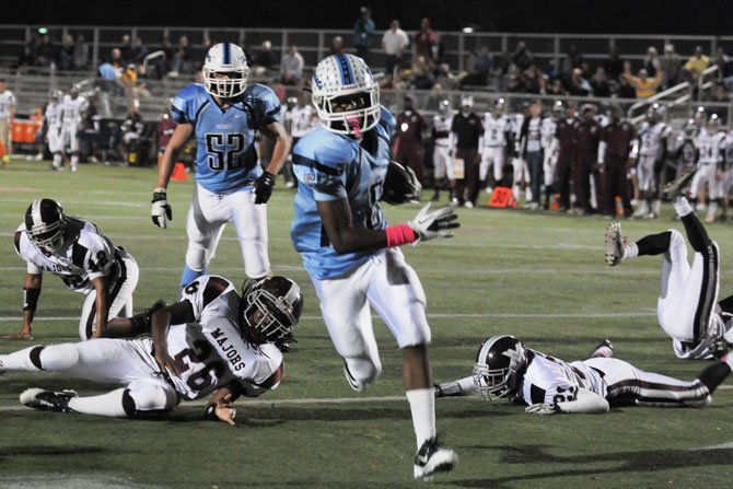 Yorktown running back M.J. Stewart totaled 139 yards of offense and three touchdowns against Mount Vernon on Oct. 26.