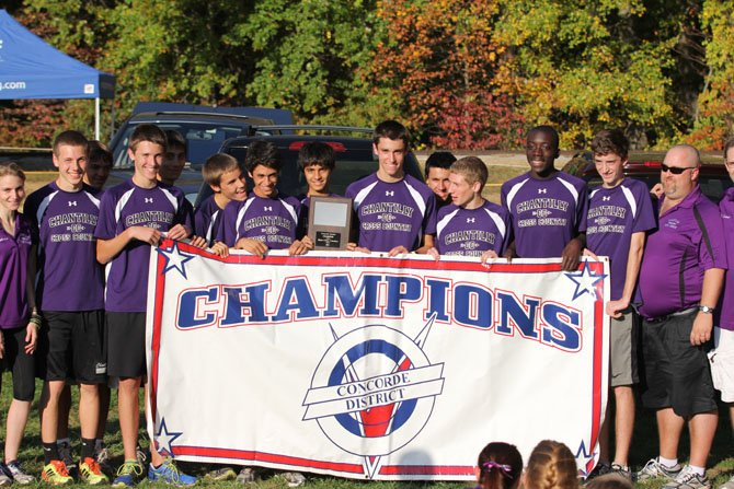 The Chantilly boys' cross country team on Oct. 24 won its first Concorde District championship in program history.