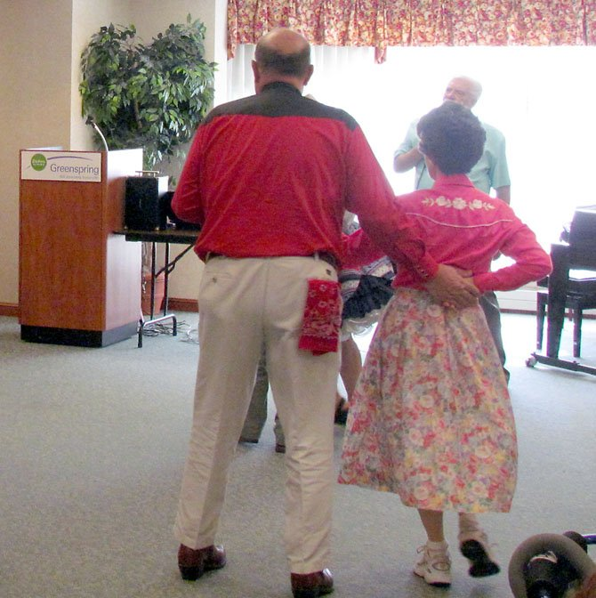 Springfield resident Fred Griffin has been square dancing since high school. Researchers say dancing can improve mental and physical well-being.