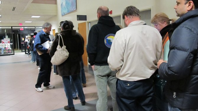 More than 750 voters elected to cast in-person absentee ballots on Friday, Nov. 2, at the Reston Government Center.