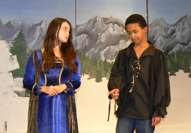 The Langley School will present its middle school fall production of Romeo and Juliet Together (and Alive!) at Last Thursday, Nov, 8-Saturday, Nov. 10 in the schools Sherman Arts Center. Pictured are Paige Hettinger and Isaac Feldman.