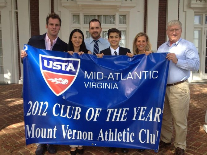 The Mount Vernon Athletic Club wins Club of the Year 2012 during USTA/Virginia Tennis Annual Meeting and Awards Luncheon.
