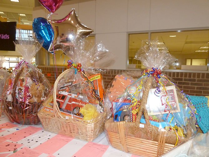 Gift baskets are featured in the silent auction at the WHC