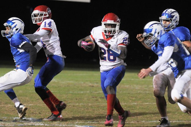 T.C. Williams running back Dealo Robertson rushed for 131 yards and a touchdown against West Potomac on Nov. 2.