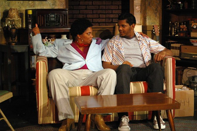 "Lolita-Marie Clayton as Claire and Chaz Pando as Darnell in ""The Soul Collector"" at Port City Playhouse."