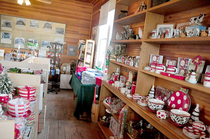 A selection of holiday and farm-related items for sale this holiday season at the Frying Pan Farm Park General Store.