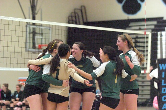 The Langley volleyball team won the Liberty District title and advanced to the state tournament in 2012.