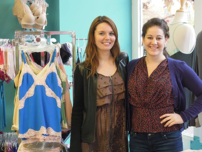 Corey Lorenz (left) and Hilary Adleberg (right) at Bloomers.