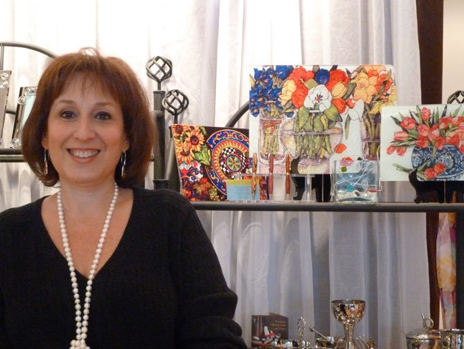 Deb Shalom at her gift store, Leila.