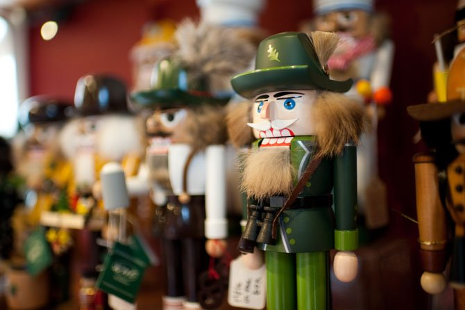 The Christmas Attic is ground zero for shoppers during the holiday season, where nutcrackers are always popular.