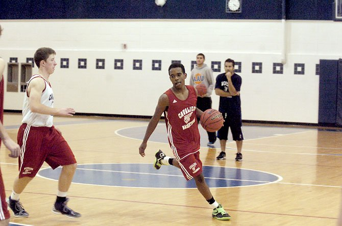 Woodson sophomore Eric Bowles started at point guard during his freshman season.