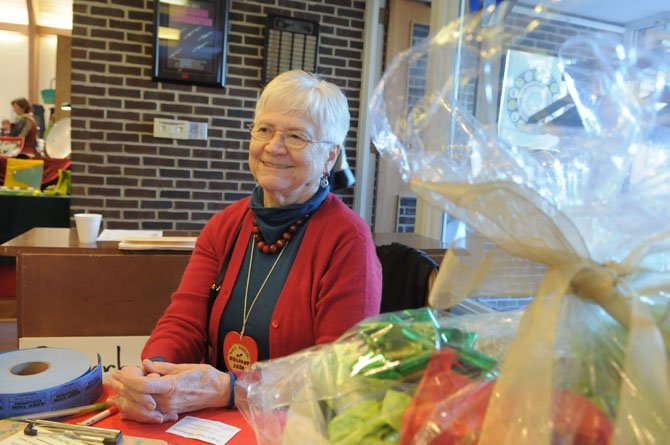 Betty Jo Middleton offers visitors a chance on the afternoon raffle.
