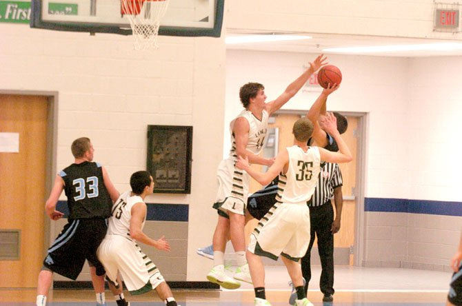 Langley senior center Brad Dotson had 14 points, seven rebounds and six blocks against Centreville on Nov. 29.