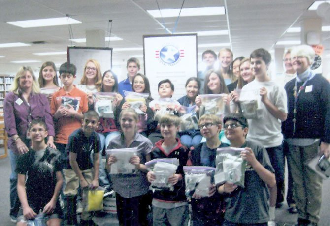 On Nov. 20, Cooper Middle School students packaged hundreds of Hygiene Kits for Hurricane Sandy relief efforts.