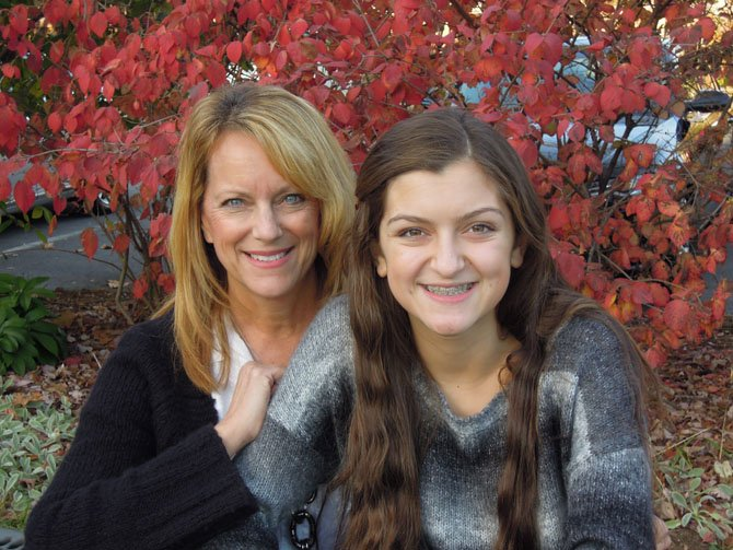 Mackenzie Testa with her mother Betsy.