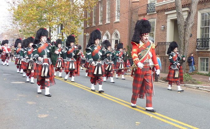 City of Alexandria Pipes and Drums led by J.J. Powers.