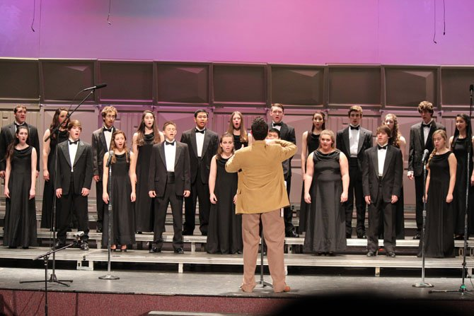 The Chantilly Chamber Chorale performing at the fall concert.
