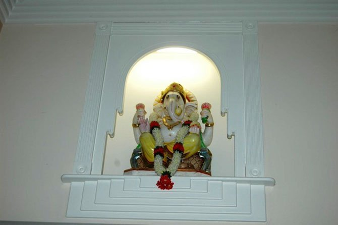 A statue of Ganesha in the Durga Temple of Virginia. Ganesha is one of the best-known and most widely worshipped deities in the Hindu pantheon.