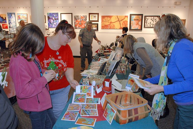 Visitors to Gifts from the HeART were not only able to support local artists with their purchases, but also Reston Interfaith as a portion of all sales went to the local charity organization.