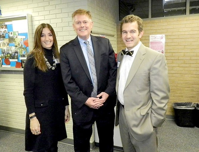 Del. Eileen Filler-Corn (D-41), Supervisor John Cook (R-Braddock) and Sen. Chap Petersen (D-34) at the 18th Annual Taste of Braddock on Dec. 5.