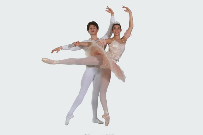 "Cameron McCune and Kailey Leinz of Burke will dance together in The Ballet Arts Ensemble of Fairfax production of the ""Nutcracker in a Nutshell."""